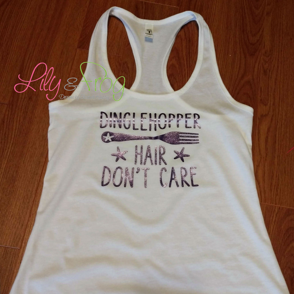 Dinglehopper Hair Don't Care Women's Racerback & Fitted Women's Tank Top