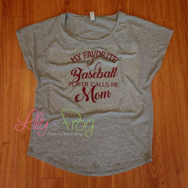 Baseball Mom Women's Fitted T-Shirt
