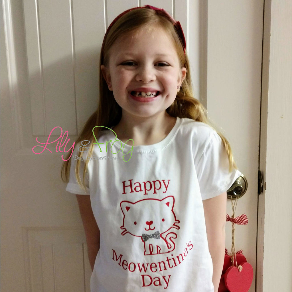 Happy Meowentine's Day Girl's T-Shirt
