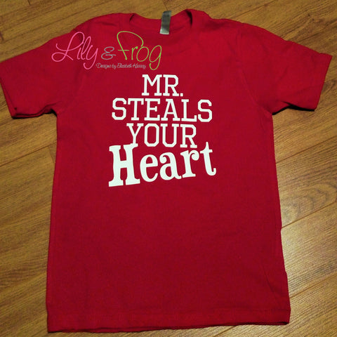Valentine's Day Mr. Steals Your Heart Boy's Shirt