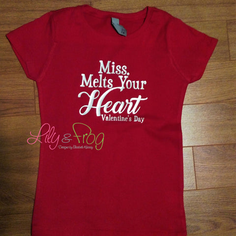 Miss Melts Your Heart Girl's T-Shirt