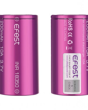 EFEST 18350 1200MAH 3.7V 10A Rechargeable battery (1pc) - The Mist Factory Melbourne Vape Store