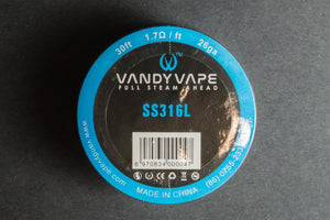 Vandyvape Stainless Steel 316L Wire 30ft Roll - The Mist Factory Melbourne Vape Store