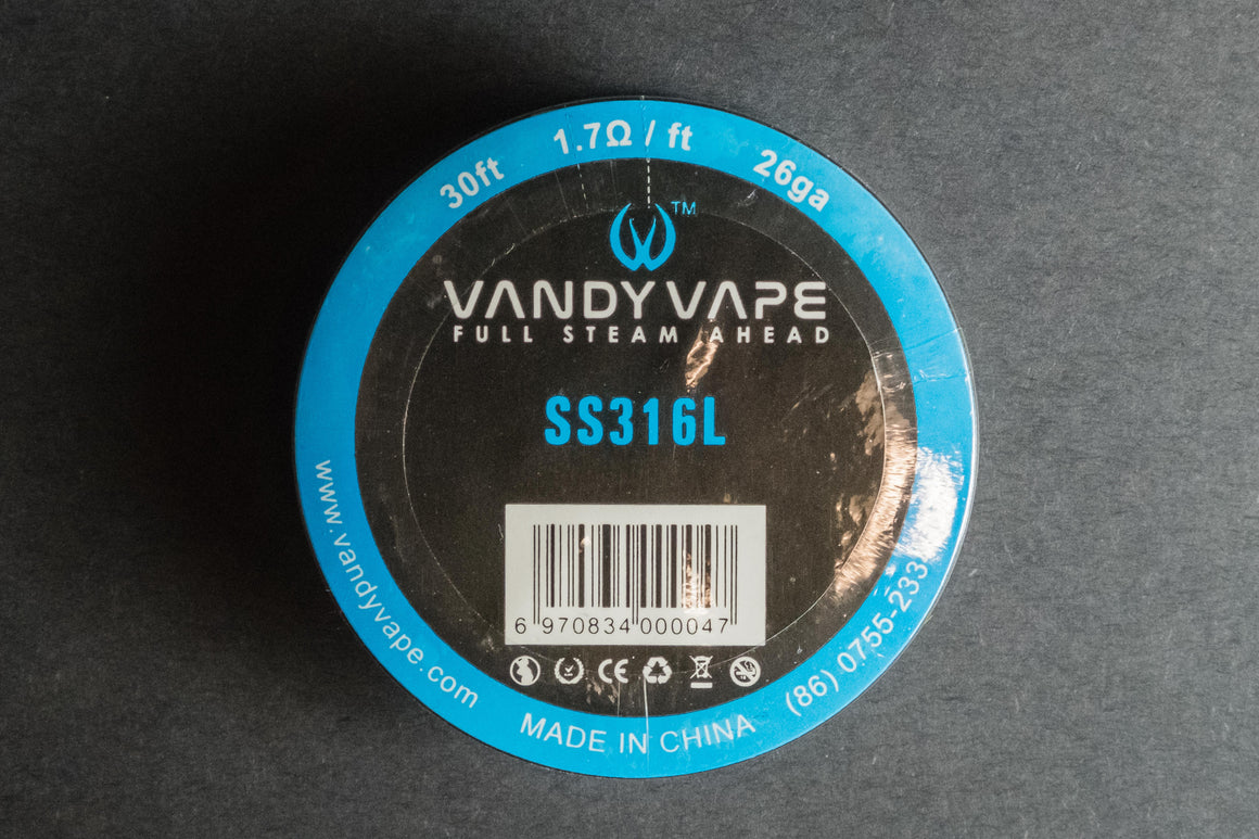 Vandyvape Stainless Steel 316L Wire 30ft Roll - The Mist Factory