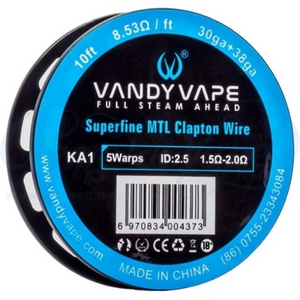 Vandy Vape Superfine MTL Fused Clapton KA1 Wire 32GA*2(=)+38GA 10ft - The Mist Factory Melbourne Vape Store