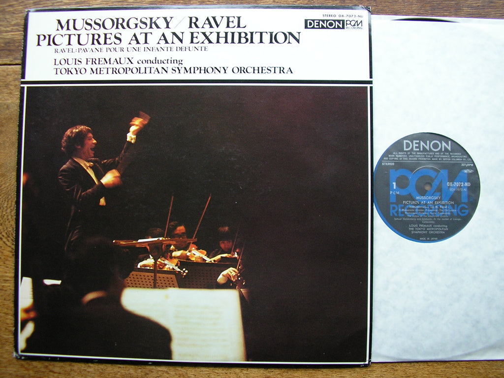 MUSSORGSKY: PICTURES AT AN EXHIBITION / RAVEL : PAVANE   LOUIS FREMAUX / TOKYO METROPLITAN SYMPHONY   OX-7072-ND