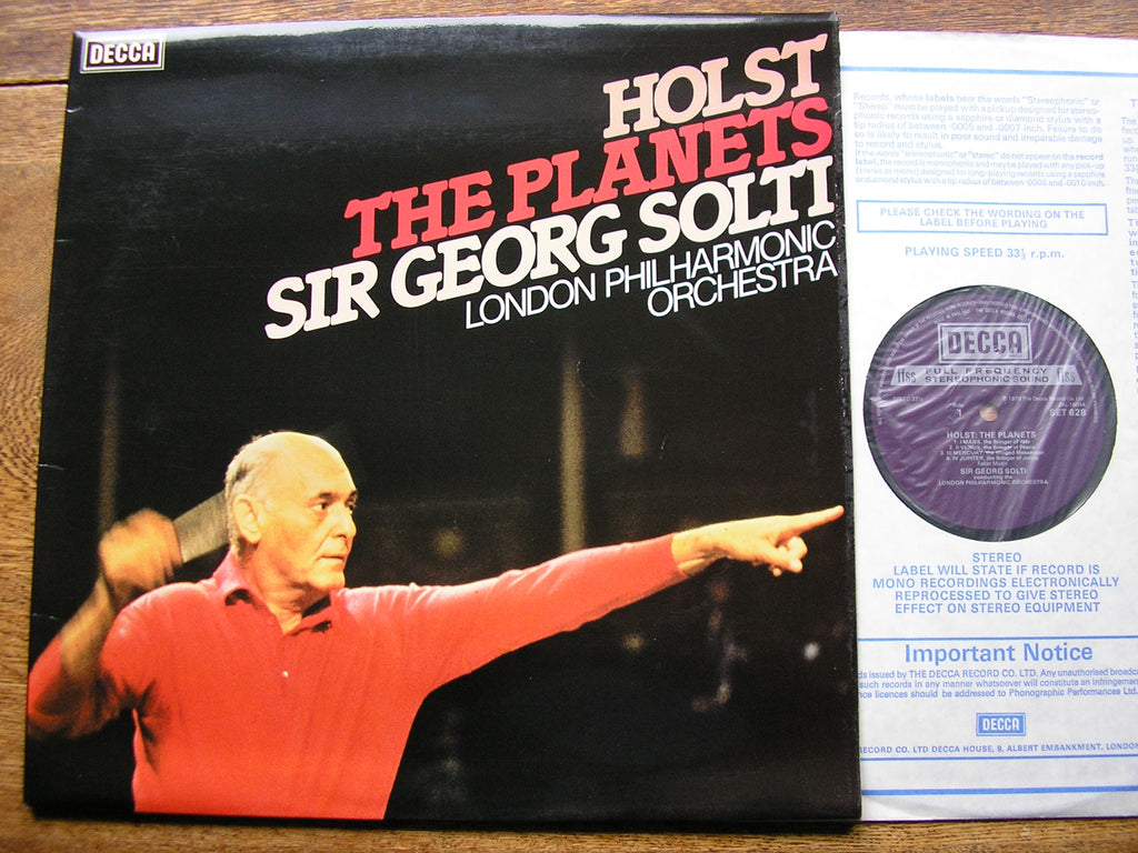 HOLST: THE PLANETS   GEORG SOLTI / LONDON PHILHARMONIC   SET 628