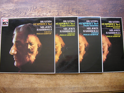 BRAHMS: THE FOUR SYMPHONIES     BARBIROLLI / VIENNA PHILHARMONIC   ASD 2401/2421/2432/2433