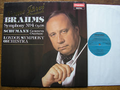BRAHMS: THE FOUR SYMPHONIES / OVERTURES    JARVI / LONDON  SYMPHONY   CHANDOS 4 LP