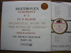 BEETHOVEN: SYMPHONY No. 2 / THE RUINS OF ATHENS  BEECHAM / ROYAL PHILHARMONIC  ASD 287