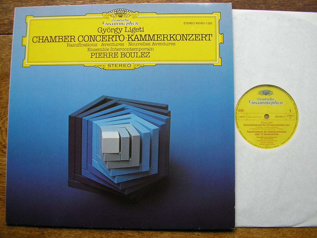 LIGETI: CHAMBER CONCERTO / RAMIFICATIONS / AVENTURES   BOULEZ / ENSEMBLE INTERCONTEMPORAIN  410 651