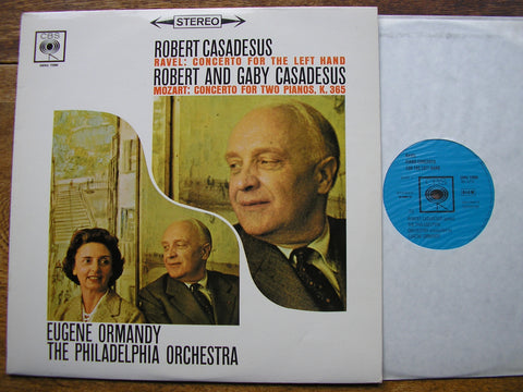 RAVEL: CONCERTO FOR THE LEFT HAND / MOZART: CONCERTO K365    CASADESUS / PHILADELPHIA / ORMANDY    SBRG 72008