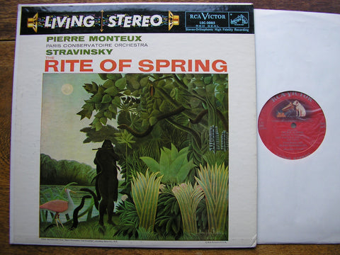 STRAVINSKY: THE RITE OF SPRING  MONTEUX / PARIS CONSERVATOIRE  LSC 2085