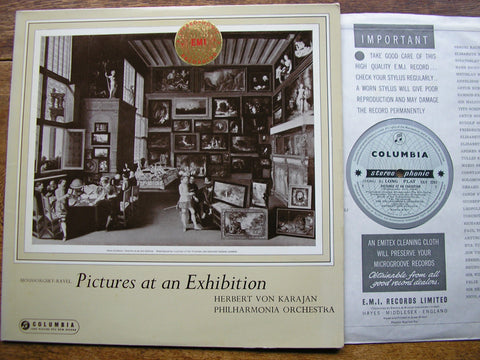 MUSSORGSKY: PICTURES AT AN EXHIBITION   KARAJAN / PHILHARMONIA  SAX 2261