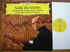 GUITAR MUSIC OF FIVE CENTURIES   NARCISO YEPES   2531 382