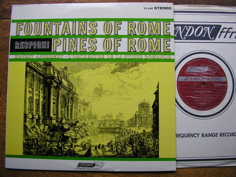 RESPIGHI: PINES OF ROME / FOUNTAINS OF ROME  ANSERMET / SUISSE ROMANDE  CS 6345
