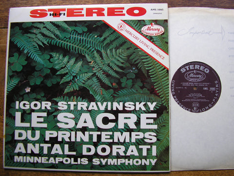 STRAVINSKY: THE RITE OF SPRING  DORATI / MINNEAPOLIS SYMPHONY  AMS 16065