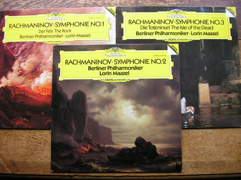 RACHMANINOV: THE SYMPHONIES / THE ROCK / THE ISLE OF THE DEAD    MAAZEL / BERLIN PHILHARMONIC   2532 102