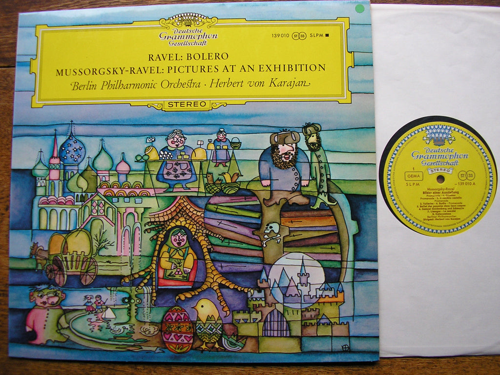 MUSSORGSKY: PICTURES AT AN EXHIBITION / RAVEL: BOLERO    KARAJAN / BPO   139 010