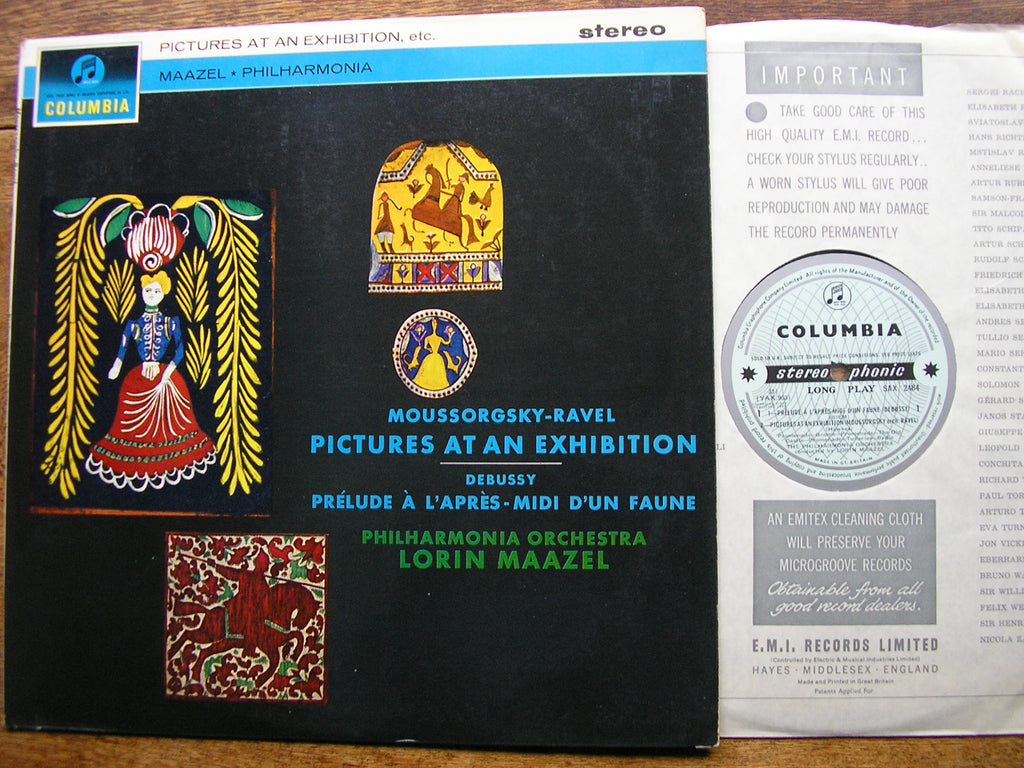 MUSSORGSKY: PICTURES AT AN EXHIBITION / RAVEL: PRELUDE   LORIN MAAZEL / PHILHARMONIA   SAX 2484