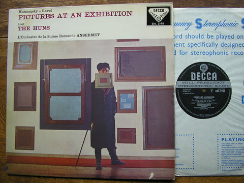 MUSSORGSKY: PICTURES AT AN EXHIBITION / LISZT: THE HUNS   ANSERMET / SUISSE ROMANDE  SXL 2195