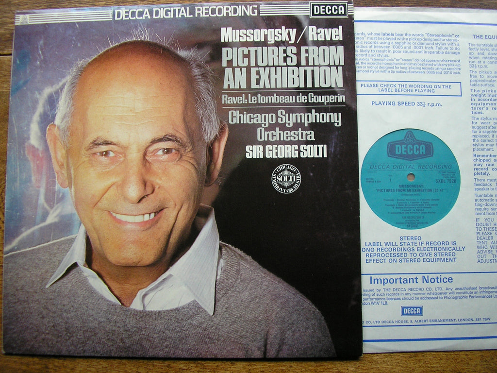 MUSSORGSKY: PICTURES AT AN EXHIBITION / RAVEL: LE TOMBEAU   SOLTI / CHICAGO SYMPHONY  SXDL 7520
