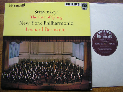 STRAVINSKY: THE RITE OF SPRING  BERNSTEIN / NEW YORK PHILHARMONIC  SABL 111