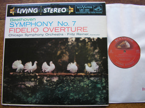 BEETHOVEN: SYMPHONY No. 7 / FIDELIO OVERTURE   REINER / CHICAGO SYMPHONY   LSC 1991