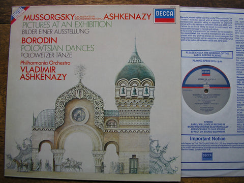 MUSSORGSKY-ASHKENAZY: PICTURES AT AN EXHIBITION / BORODIN: POLOVTSIAN DANCES  ASHKENAZY / PHILHARMONIA  410 121
