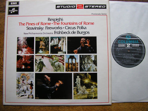 RESPIGHI: PINES OF ROME / FOUNTAINS OF ROME  DE BURGOS / NEW PHILHARMONIA   TWO 239