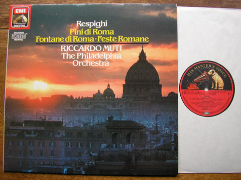 RESPIGHI: PINES OF ROME / FOUNTAINS OF ROME / ROMAN FESTIVALS   MUTI / PHILADELPHIA  EL 270312