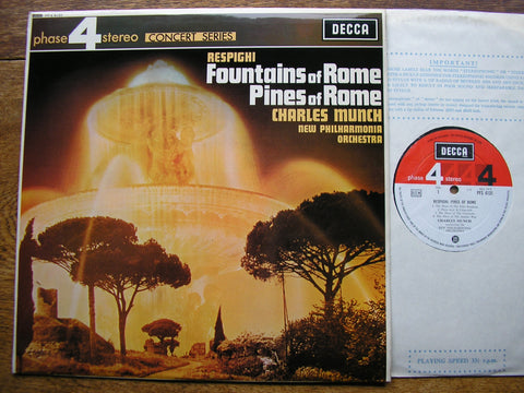 RESPIGHI: PINES OF ROME / FOUNTAINS OF ROME   MUNCH / NEW PHILHARMONIA  PFS 4131