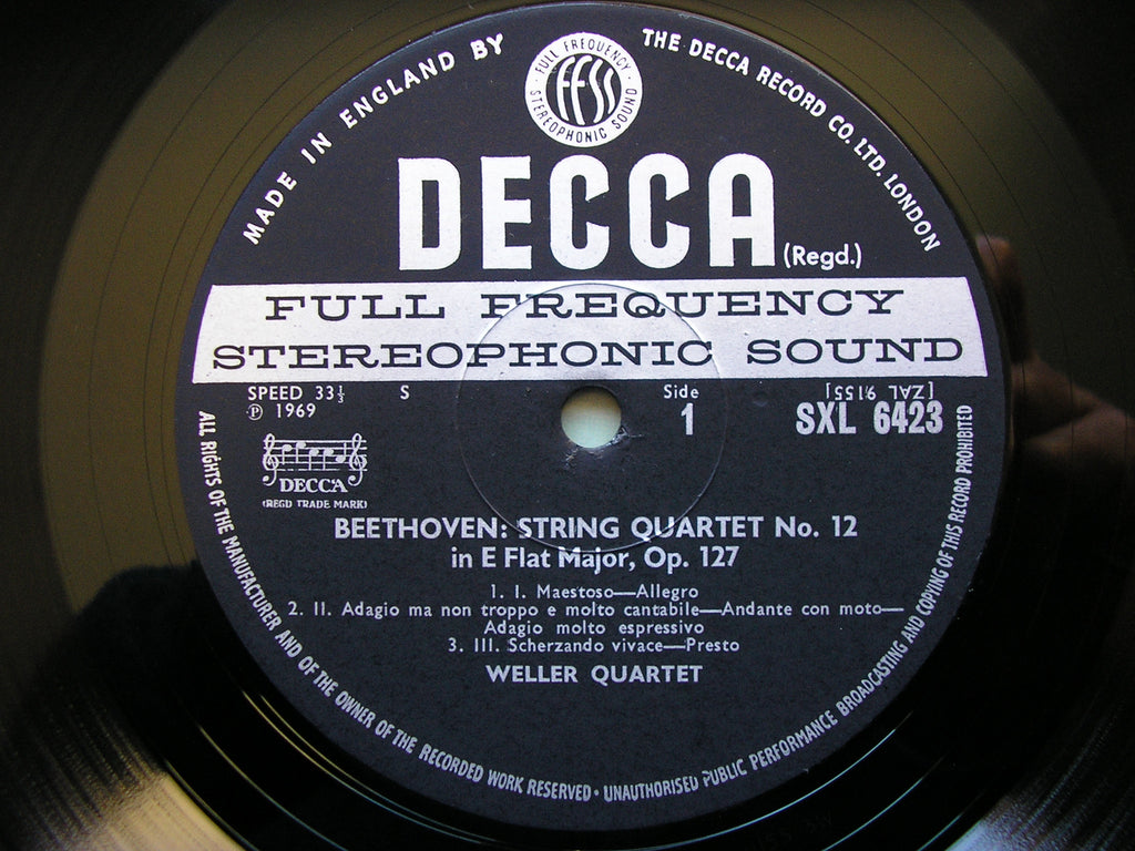 BEETHOVEN / HAYDN: STRING QUARTETS THE WELLER QUARTET SXL 6423