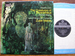 BEETHOVEN: THE CREATURES OF PROMETHEUS ZUBIN MEHTA / ISRAEL PHILHARMONIC ORCHESTRA SXL 6438