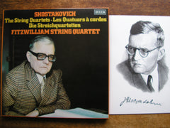 SHOSTAKOVICH: THE STRING QUARTETS   FITZWILLIAM STRING QUARTET   D188D7