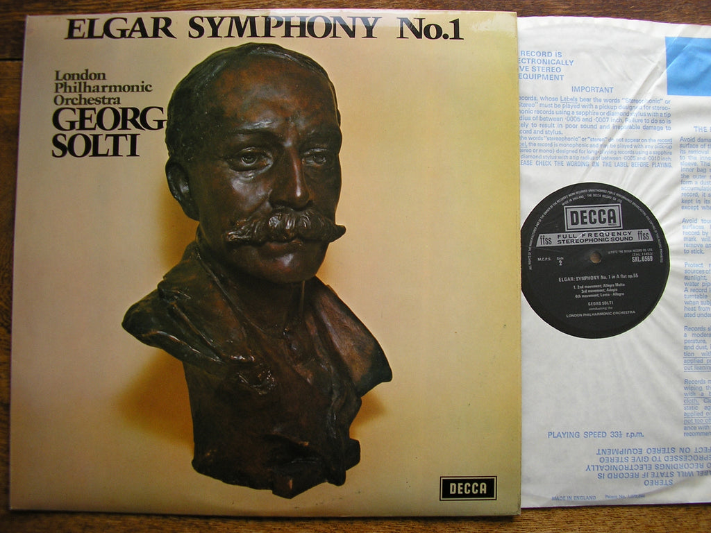 ELGAR: SYMPHONY No. 1  GEORG SOLTI / LONDON PHILHARMONIC  SXL 6569