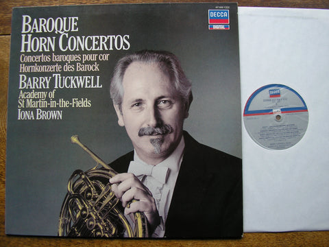 BAROQUE HORN CONCERTOS   BARRY TUCKWELL / ASMIF / IONA BROWN  417 406