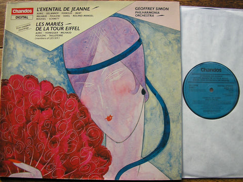 20th CENTURY FRENCH BALLETS: WEDDING ON THE EIFFEL TOWER / JEANNE'S FAN AURIC / SCHMITT / POULENC / RAVEL  / PHILHARMONIA / GEOFFREY SIMON ABRD 1119