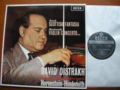 BRUCH: SCOTTISH FANTASIA / HINDEMITH: VIOLIN CONCERTO   OISTRAKH / LONDON SYMPHONY / HORENSTEIN   180gm    SXL 6035
