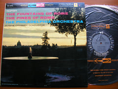 RESPIGHI: PINES OF ROME / FOUNTAINS OF ROME    ORMANDY / PHILADELPHIA ORCHESTRA   MS 6001