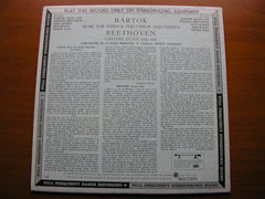 BARTOK: MUSIC FOR STRINGS, PERCUSSION & CELESTA / BEETHOVEN: GROSSE FUGE     ANSERMET / SUISSE ROMANDE ORCHESTRA    CS 6159