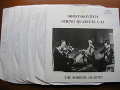 SHOSTAKOVICH: THE STRING QUARTETS   BORODIN QUARTET    SLS 879