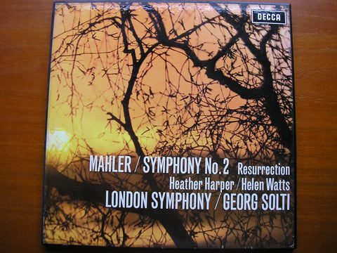 MAHLER: SYMPHONY No. 2 'Resurrection'    HARPER / WATTS / LONDON SYMPHONY ORCHESTRA / SOLTI     SET 325 - 6