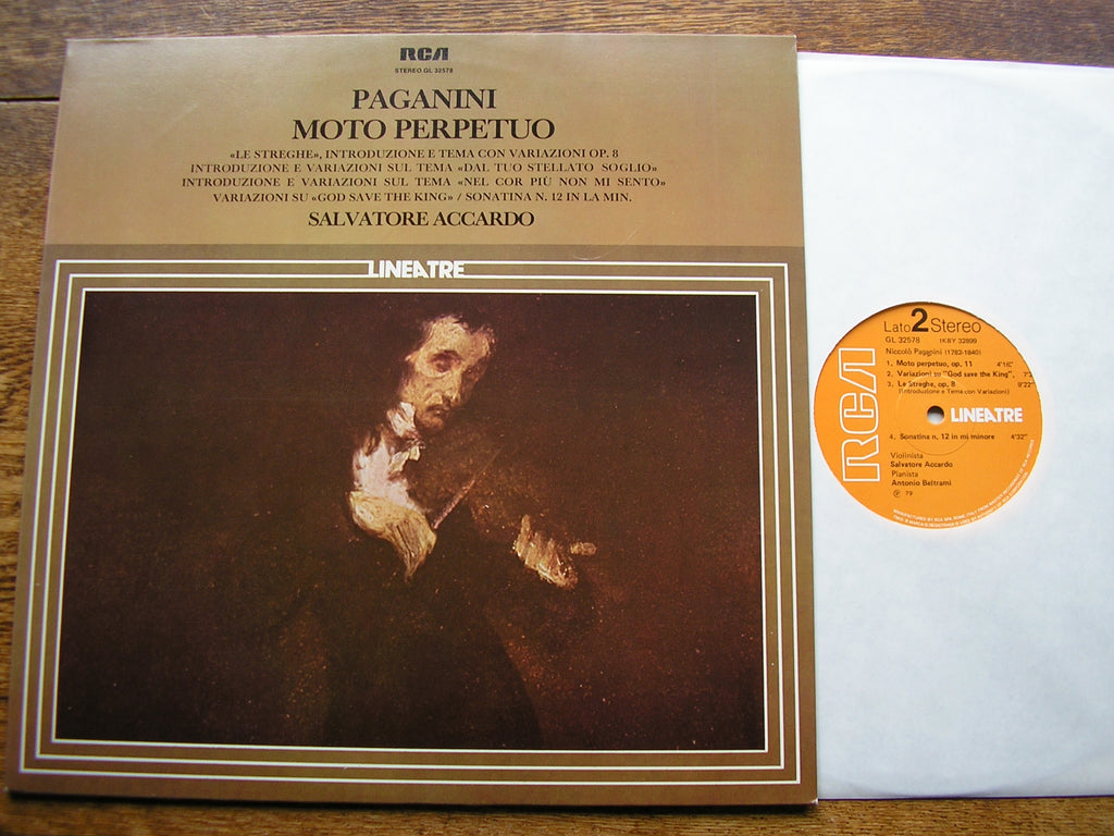 PAGANINI: VIRTUOSO SHOWPIECES FOR VIOLIN    ACCARDO / BELTRAMI    GL 32578