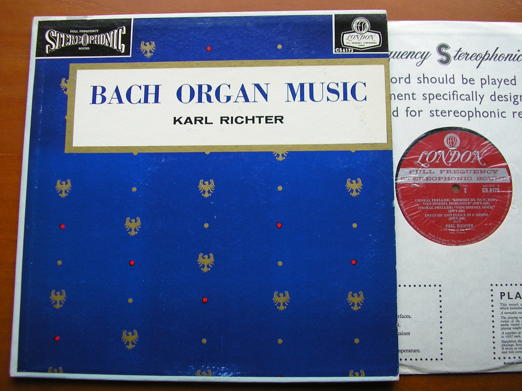 BACH ORGAN MUSIC     KARL RICHTER     CS 6173