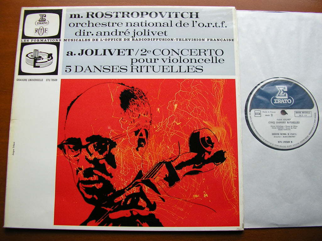 JOLIVET: CELLO CONCERTO No. 2 / 5 RITUAL DANCES    ROSTROPOVITCH / FNRO / JOLIVET    STU 70509