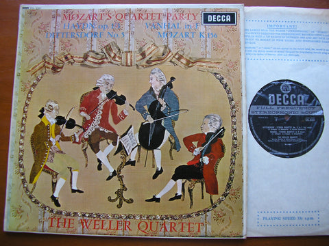 MOZART'S QUARTET PARTY: DITTERSDORF / HAYDN / VANHAL / MOZART    THE WELLER QUARTET    SXL 6331