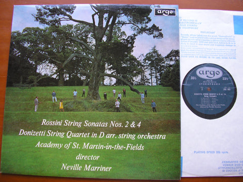 ROSSINI: STRING SONATAS Nos. 2 & 4 / DONIZETTI: STRING QUARTET in D    MARRINER / ASMIF    ZRG 603