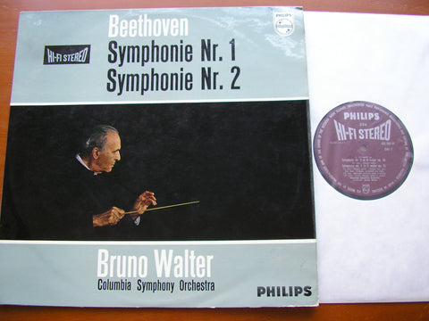 BEETHOVEN: SYMPHONIES Nos. 1 & 2     WALTER / COLUMBIA SYMPHONY ORCHESTRA    835 540