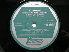 FRANCAIX: PIANO CONCERTO / SUITE FOR VIOLIN / RHAPSODY FOR VIOLA   SOLOISTS / LUXEMBOURG RADIO ORCHESTRA / FRANCAIX   TVS 34552